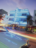 Colony Hotel and Classic Car  South Beach  Art Deco Architecture  Miami  Florida  Usa