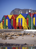 Changing Huts on St John's Beach  Capetown  South Africa
