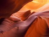 Sunlight Filters Down Carved Red Sandstone Walls of Lower Antelope Canyon  Page  Arizona  Usa