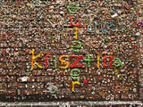 Gum Wall at Pike's Place Market in Seattle  Washington  Usa