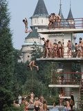 Bathers Enjoying the Mineral Water at the Bojnice Spa