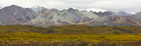 Mountains and Tundra of the Alaska Range in Fall Colors