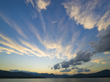 Ashokan Reservoir  Water Source for New York City  and Sunset Clouds