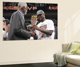 Miami  FL - June 21:  Former NBA Hall of Famer Bill Russell presents the Bill Russell NBA Finals MV