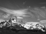 Spectacular Peaks of Fitzroy Massif with Snow  Glaciers and Clouds