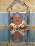 This Patient Combines Spinal Traction with a Thermal Bath at a Spa