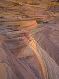 Fantastic Landscape of Colorful and Twisted Sandstone Layers