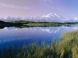Reflections of Mt Mckinley and the Alaska Range in the Early Morning Light