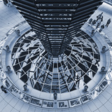 The Light Funnel of the Reichstag Dome in the Cupola of the Reichstag  Tiergarten  Berlin Germany