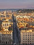 Via Del Corso Ta Sunset  Rome  Lazio  Italy  Europe
