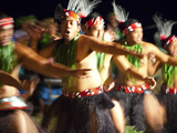 Polynesian Dancers  Rarotonga  Cook Islands  South Pacific