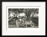 Man on Bench (B/W)