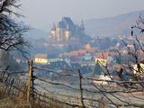 Elevated View over Biertan at Sunrise  Biertan  Nr  Sighisoara  Transylvania  Romania
