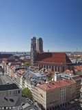 The Twin Towers of the Munich Frauenkirche and the Marianplatz Viewed from the Steeple of St Peter
