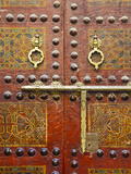Ornate Door  Sidi Ahmed Tijani Mosque  the Medina  Fes  Morocco