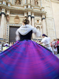 Traditional Dancing Outside the 13th Century Iglesia Y Convento Del Carmen  Valencia  Spain