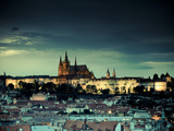 Czech Republic  Prague  Stare Mesto (Old Town)  View of Hradcany Castle and St Vitus Cathedral