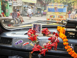 Taxi in the Streets of Kolkata India