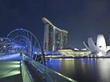Marina Bay Sands Hotel and Helix Bridge  Singapore