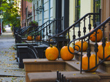 USA  New York  Brooklyn  Brooklyn Heights  Halloween Pumpkins