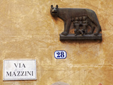 Italy  Veneto  Verona  Western Europe  the Symbol of Rome  on a Wall Named after Statesman Giuseppe