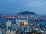 Korea  Gyeongsangnam-Do  BUSAn  View of Harbour and Lotte Tower from BUSAn Tower
