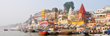 The Ghats Along the Ganges River Banks  Varanasi  India