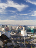 United States of America  Nevada  Las Vegas  Elevatred View of the Hotels and Casinos Along the Str