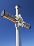 Memorial Cross and Edelweiss Flower Motif on Kehlstein Peak  Hitler&#39;s &#39;Eagle&#39;s Nest&#39; Residence in B