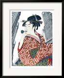 Woman Playing a Poppin (After Utamaro)