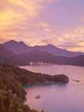 Taiwan  Nantou  View of Sun Moon Lake at Sunset