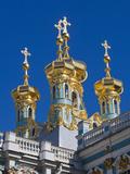 Russia  St Petersburg  Pushkin-Tsarskoye Selo  Catherine Palace Chapel Detail