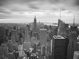 Midtown Skyline with Empire State Building from the Rockefeller Center  Manhattan  New York City  U
