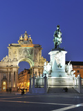Terreiro Do Paco at Twilight  One of the Centers of the Historical City  Lisbon  Portugal