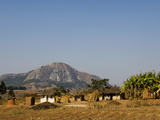 Malawi  Dedza  Grass-Roofed Houses in a Rural Village in the Dedza Region