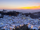 Casares at Sunset  Casares  Malaga Province  Andalusia  Spain