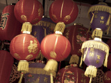 Chinese Lanterns in Shop Front  China Town  Singapore