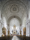 Germany  Bavaria  Munich  Nave of Michaelskirche  Second Largest Barrel-Vaulted Roof in the World t