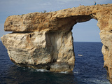 Gozo  Malta  Europe  Natural Arch Formed in Rock Called the 'Azure Window' Found in Dwejra
