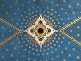 Poland  Cracow  Extraordinary Art Nouveau Ceiling Decoration in the Franciscan Church  Designed by