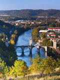 France  Midi-Pyrenees Region  Lot Department  Cahors  Pont Valentre  Midieval Bridge  Lot River
