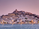Spain  Balearic Islands  Ibiza  View of Ibiza Old Town (UNESCO Site)  and Dalt Vila