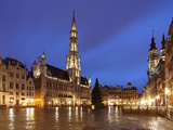 The Town Hall (French: Hôtel De Ville)  of City of Brussels Is a Gothic Building from Middle Ages L