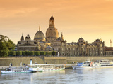 Germany  Saxony  Dresden  Elbe River and Old Town Skyline