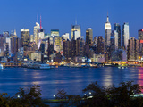Manhattan  View of Midtown Manhattan across the Hudson River  New York  USA