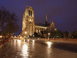 The Famous Cathedral of Notre Dame in Paris after the Rain  France