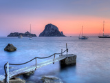 Spain  Balearic Islands  Ibiza  Cala D'Hort Beach and Es Vedra Island