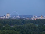 Millennium Wheel (London Eye)  Big Ben and Hyde Park  London  England  Uk