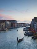 Grand Canal from the Rialto  Venice  Italy