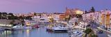 Harbour and Waterfront of Ciutadella  Menorca  Balearic Islands  Spain